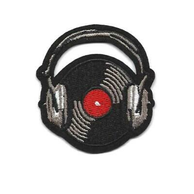 Music DJ 147-Q Headphones Embroidered Iron On Patch