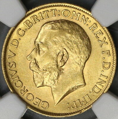 1914 NGC MS 62 Gold Sovereign Great Britain St George Pound Coin (19013001C)