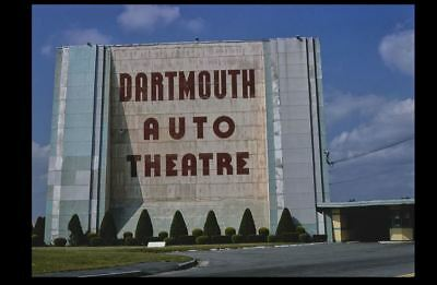 Vintage Dartmouth Drive-In Movie Theater PHOTO 1970s Classic Screen, Mass