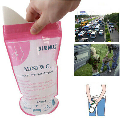 Travel disposable urinal bags, small and light weight. Suitable for male, female