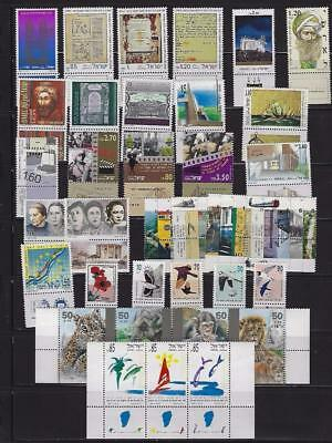 Israel 1992 MNH Tabs & Sheets Complete Year Set