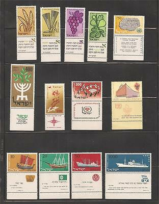 Israel 1958 MNH Tabs and Sheets Complete Year Set