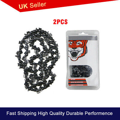 2Pcs 20inch 76 Drive Links 325pitch For 4500 5200 Chainsaw Saw Chain Part Garden