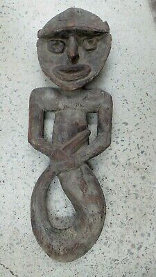Early Pacific Island Carved Timber Spirit Fertility Figure