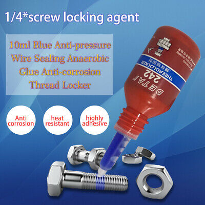 1/4PCS 10ML 242 Thread Seal Lock Glue Screw Glue Fast Fix Anaerobic Adhesive