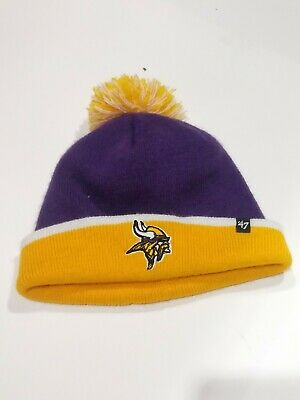 e5cfb6e19eeff NFL Minnesota Vikings  47 Brand Beanie Knit Hat - Purple and Yellow - One  Size