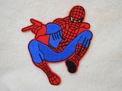 Spiderman  New Embroidered  Sew/ Iron On Name Patch Tag