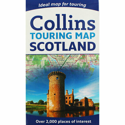 Collins Touring Map of Scotland (Paperback), Non Fiction Books, Brand New