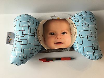NEW- Blue Baby Elephant Ears Head Support Pillow-ship free