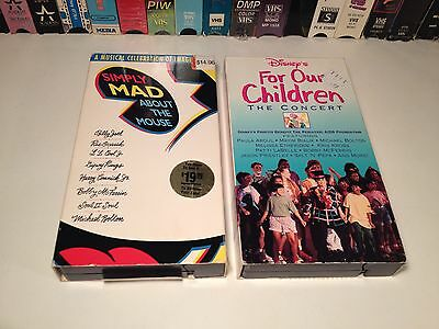 Disney Musical Performance Lot 2 VHS Simply Mad About Mouse & For Our Children