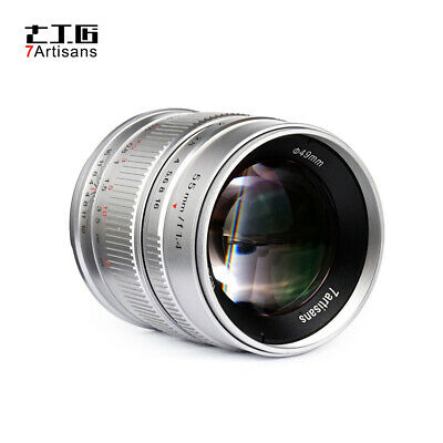 7artisans 55mm f/1.4 Manual Focus Lens for Fujifilm X-A1/A2/A10 FX-Mount Cameras