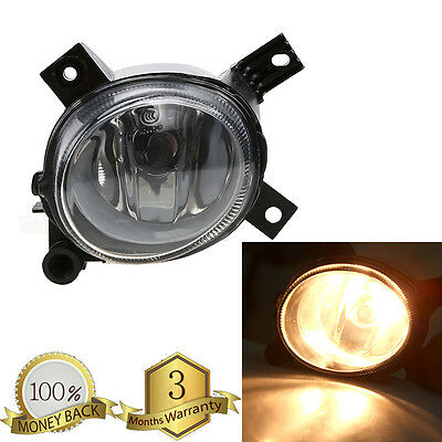 Front Left Clear Lens Fog Light Driving Lamp Bulb For Audi A4//S4 B8