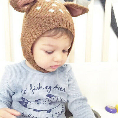 Baby Toddler Cute Hooded Scarf Hat Knitted Beanie Soft Warm Cap Shawl Acces