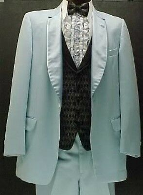 SKY BABY BLUE MENS TUXEDO JACKET or 4pc TUX RETRO AFTER 6 VINTAGE WEDDINGS PROM