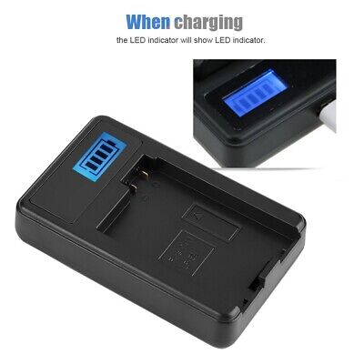 LP-E8 Camera Battery LPE8 + LCD Single Charger For Canon EOS 550D 600D 650D GB