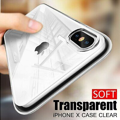 CLEAR Case For iPhone XR 8 7 Cover Shockproof 360 Silicone Gel Protective TOUGH