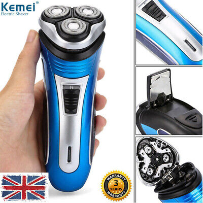 3D Rechargeable Electric Shaver Rotary 3 Heads Men's Body Wet And Dry Razor UK