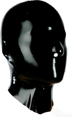 Bondage Fetish Rubber Latex Mask 1110 Eyes &  Mouth Closed Gimp Catsuit Slave
