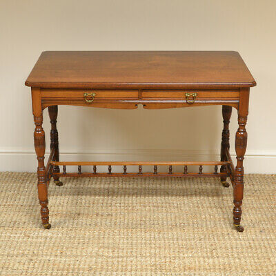 Quality Victorian Walnut Arts & Crafts Antique Side Writing Table