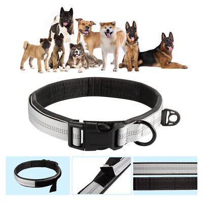 Adjustable Pet Dog Collar with Heavy Duty Quality D-ring Buckle for Dogs PS375