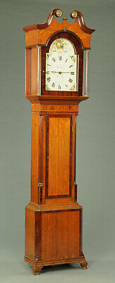 19th Century Oak Long Case Grandfather Clock Iveson Carlisle