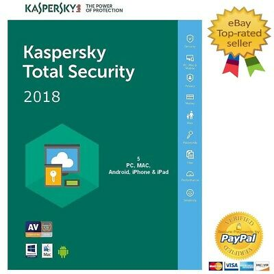 Kaspersky Total Security 2019 5PC / 1 Anno Licenza Digitale - EU - Fatturabile