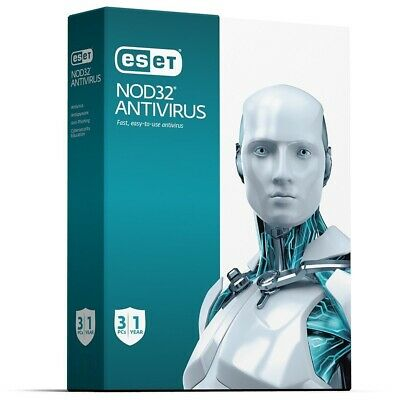 ESET NOD32 Antivirus 3 PC 1 Anno Licenza Digitale - Global Key - Fatturabile