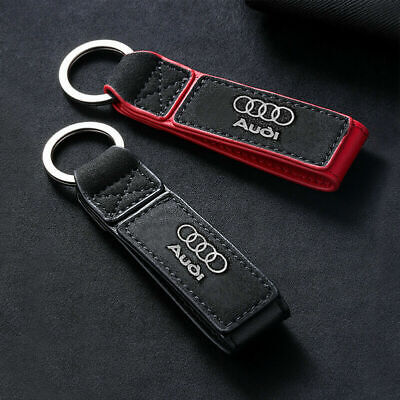 GENUINE LEATHER KEYCHAIN Keyring for Audi A3 A4 A5 A6 A7 Q3