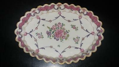 Beautiful French 19th C Samson Famille Rose Porcelain Spoon Tray C 1840+