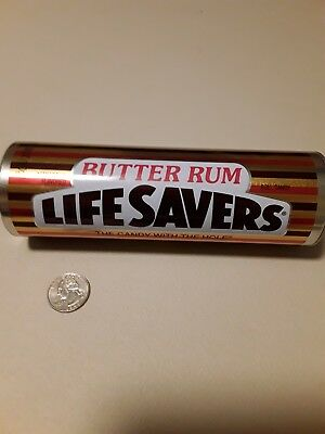 """Life Savers Butter Rum Tin With Lid """"ONLY"""". No Longer Has Candy Inside."""