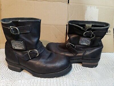 0c3874ce496 Vintage 90s Karl Kani Silver Plate Black Leather Buckle Boots 9.5 Hip Hop  Rare
