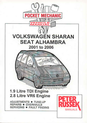 Workshop Manual VW Sharan Seat Alhambra 1.9 TDI 2.8 VR6 2001-2006 Service Repair