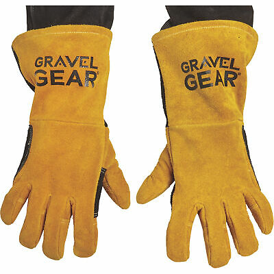 Gravel Gear MIG/Stick Welding Gloves-Premium Split Cowhide Leather, Gold/Black
