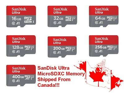 SanDisk Ultra MicroSD Micro SD SDXC SDHC MicroSDXC 100MB/s Flash Memory Card Lot