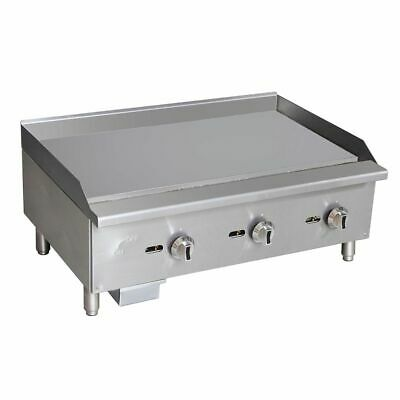 "S/S Manual Control Natural Gas 36"" Griddle"