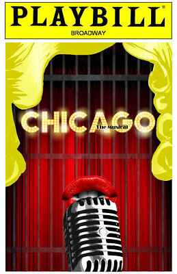 """Chicago The Musical Playbill  Broadway Theater  FRIDGE Magnet 2.5"""" x 3.5"""""""