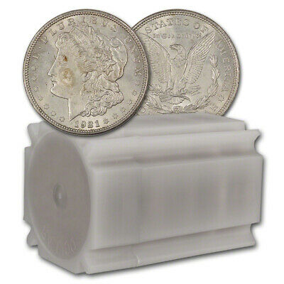 1921 US Morgan Silver Dollar - Roll of 20 coins - Average Circulated
