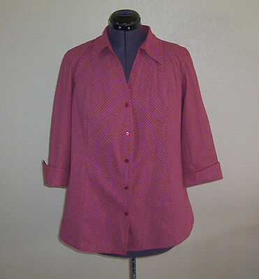 Women's Motherhood Maternity Red & White Checked Shirt Large