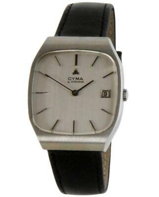 Nos New Vintage Mechanical Hand Winding Date Cyma Analog Men's Watch 1960'