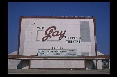 Vintage GAY Drive-In Movie Theater PHOTO 1980 Classic Screen Minnesota