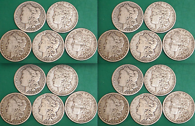 1878-1904 Morgan Silver Dollar Culls Pre-1921 Mix Dates 1 ROLL Lot of 20 Coins