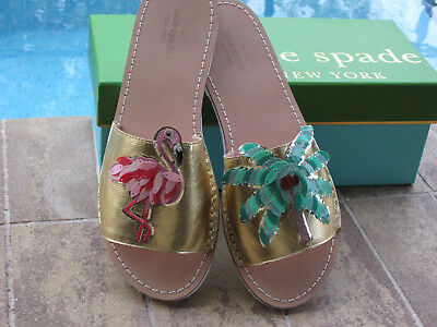 900ad5fe54b8 NIB Kate Spade New York Izele Flat Slide Sandals CRUISE WEAR Size 6.5  FLAMINGO