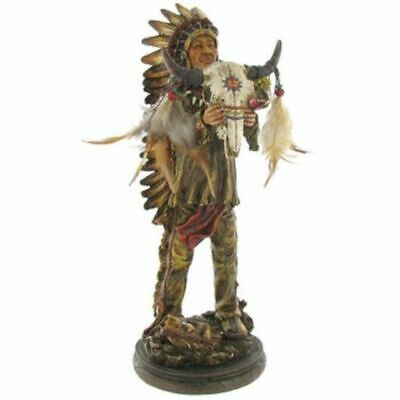 Native American Indian Warrior Statue Proud Spirit Sculpture Figurine