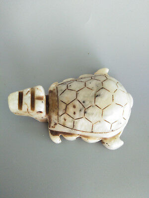 Exquisite Hand-carved old jade dragon turtle statue A48#