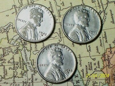1943 P*D*S  @  Lincoln (STEEL) Pennys