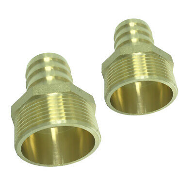 """BRASS GARDEN HOSE FITTING CONNECTOR Adapter,Barb x Male Pipe,Thread G11/2"""""""