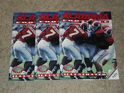 lot of 3 Auburn Tigers vs Alabama Crimson Tide 1996 Iron Bowl Football Programs