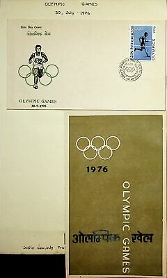 1976 Olympic Games/first Day Cover Beautiful Nepal Postage Stamps