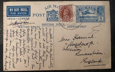 1941 MEF Eritrea India Stationary Postcard Cover To Lancashire England