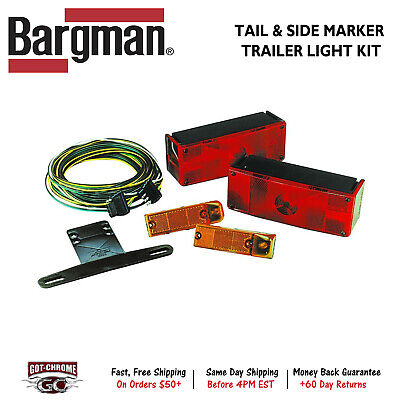 007509 Bargman Trailer Light Tail / Side Marker Light Kit with Wiring Harness